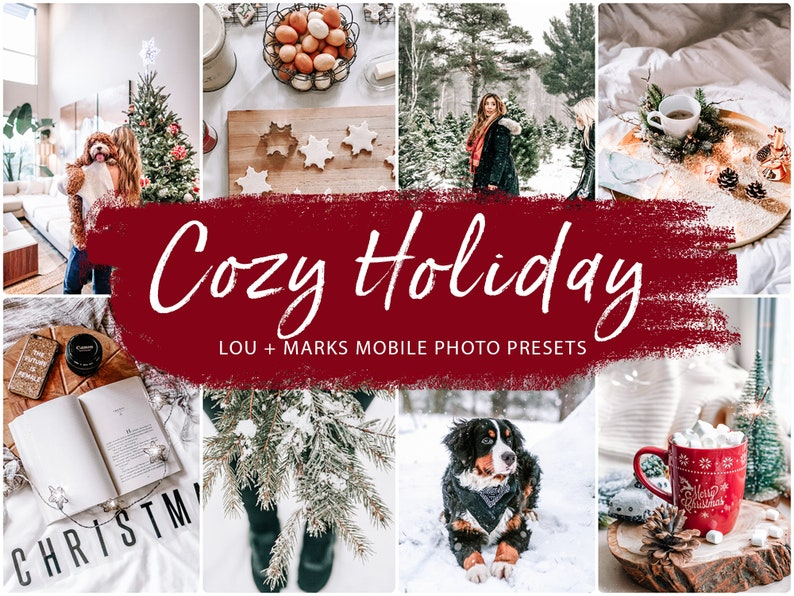 10 Mobile Lightroom Presets COZY HOLIDAY for Desktop and Mobile Lightroom, Instagram Filter for bloggers, Winter Photo Presets photo