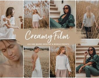 Fall Presets For Lightroom, Lightroom Mobile Presets CREAMY FILM Presets for Desktop and Mobile, Warm Instagram Presets for Autumn