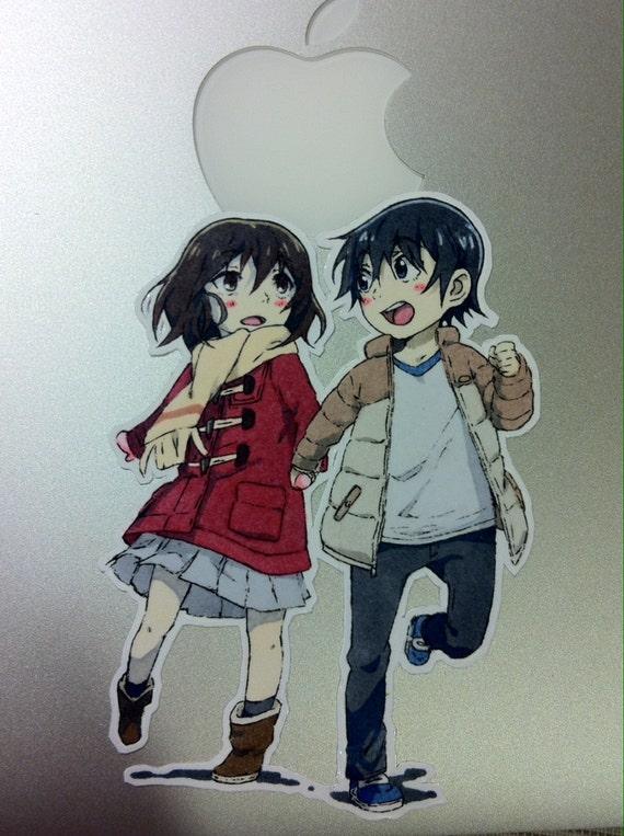 ERASED Anime Sticker Kayo Hinazuki And Satoru Fujinuma Chibi Boku Dake Ga Inai Machi