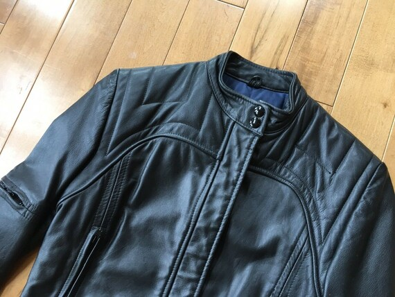 All sizes Blue /& Black Racing leather motorcycle Jacket