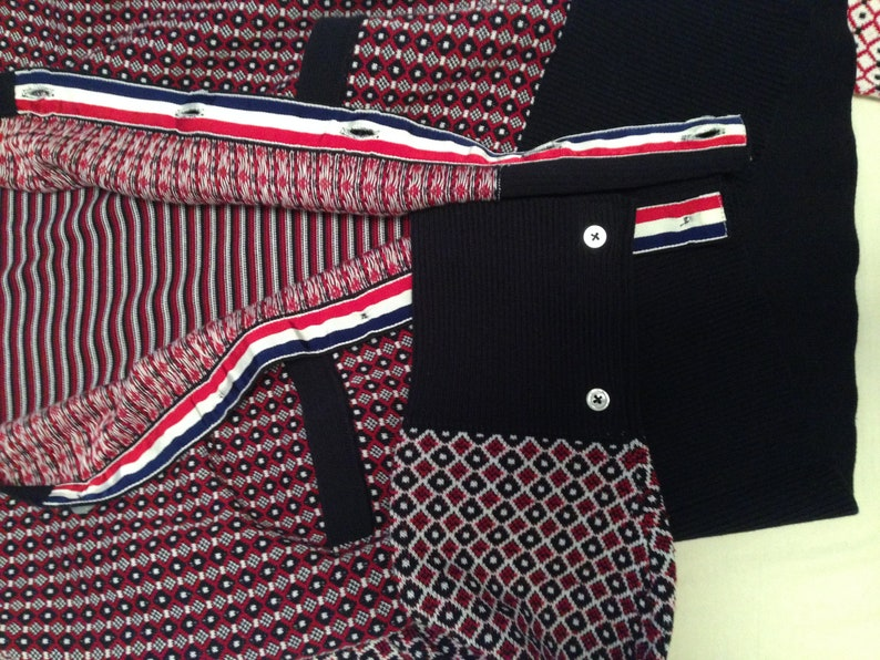 THOM BROWNE for Brooks Brother Black Fleece N.Y Rare Item cardigan in pure cotton,4 patterns,buttons also on the sleeves #THOMBROWNE