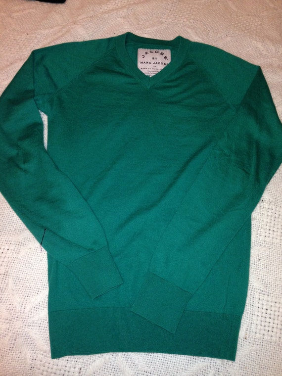 MARC Jacobs soft sweater in emerald green cashmere