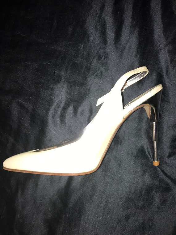 THIERRY MUGLER 80's Shoes, in Dusty Pearly White P