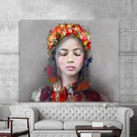 "Modern ""Lady Folk"" canvas painting for bedroom and living room"