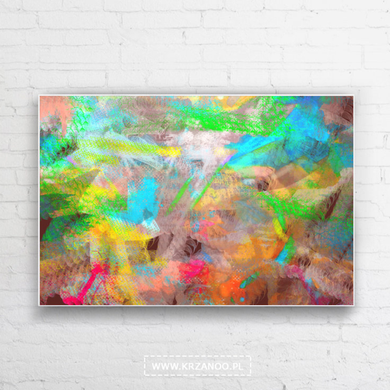 Modern painting on canvas color II for bedroom and image 0
