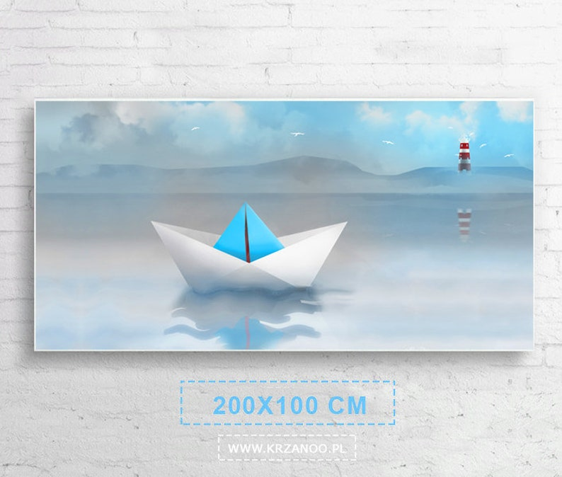 Xxl A modern painting on the canvas ship of the image 0