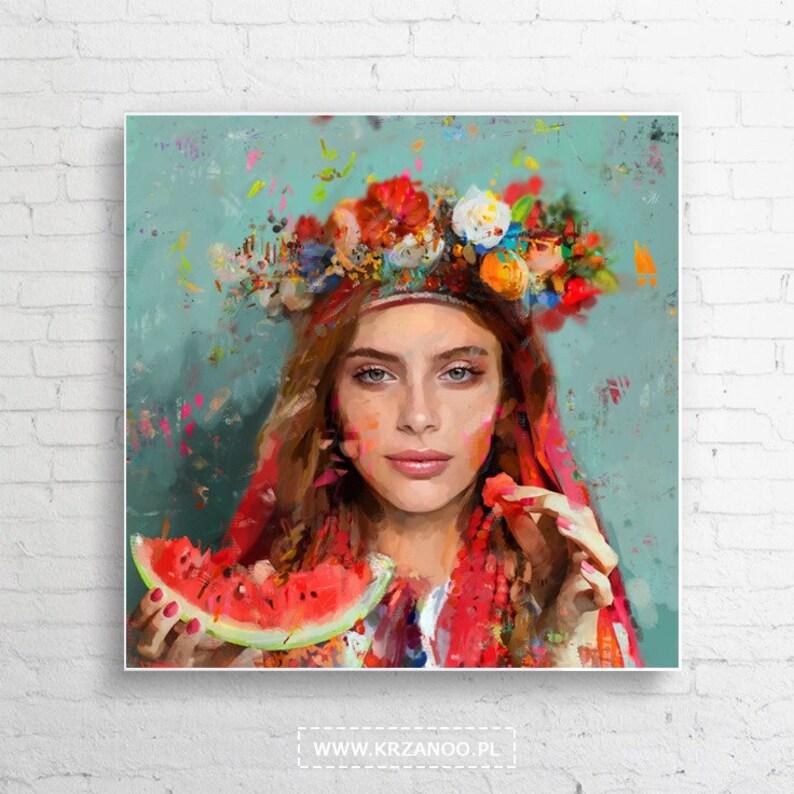 Modern painting on canvas Summerfolk for bedroom image 0