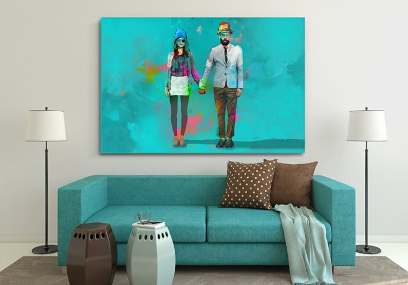 Modern painting on canvas ColorLove for bedroom image 0