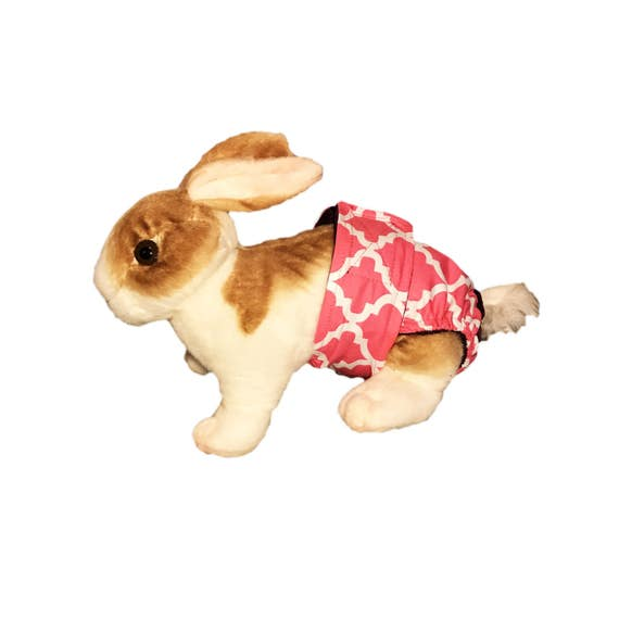 Quatrefoil rosado conejito lavable pañal conejo pañal | Etsy