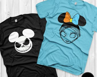 Jack and Sally Matching Shirts Disney Couples Shirts Jack Skellington and Sally Custom Matching Shirts Couple vacation ( Sold Separately )