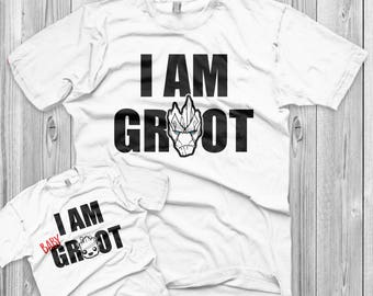 e5d2223f8 Father's Day gift I am Groot Shirt Set Father Son matching shirts for him  dad gift father child matching gift from kid