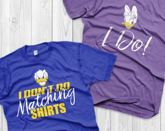 Disney Couple Shirts Donald Duck and Daisy Duck Matching Shirts Donald and Angel shirts Vacation Shirts ( Sold Separately )