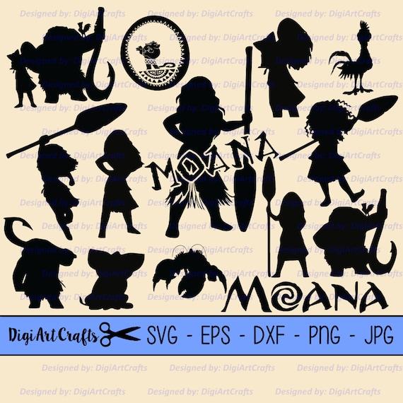 Princess Moana Silhouettes Svg Cutting Files Dyi Disney Etsy