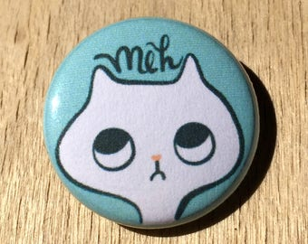 Funny Cat Pin / Cat Button / Quirky Cat Pin / Cat Pins / Funny Cat Pins / White Cat / Funny Cat Buttons / Cat Buttons / Cat Lady Gift