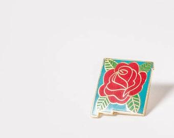 New Mexico Gift / Rose Pin / Enamel Pin / New Mexico Art / New Mexico Pins  / Albuquerque Gift / New Mexico / Santa Fe / Albuquerque / ABQ