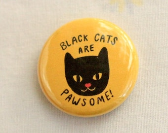 Black Cat Magnet / Black Cats are Pawsome Magnet / Cat Lady Magnet / Black Cat Magnets / Cat Magnets