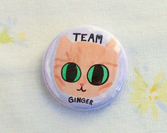 Ginger Cat Pin / Orange Cat Pin / Orange Cat Pins / Ginger Cat Button / Ginger Cat / Orange Cat / Cats / Gift for Cat Lady / Cat Buttons