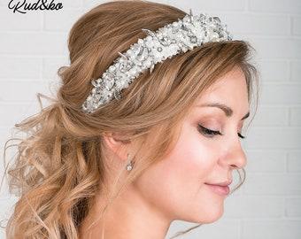 Bridal Hair band, Bridal Tiara, Bridal Crystal Crown, Bridal Hair Accessory, Wedding Headpiece, Crystal, Diamante, hair rim