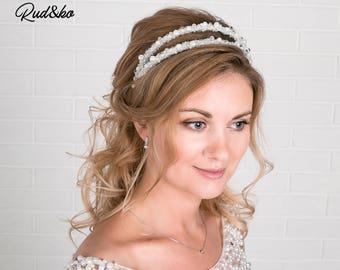 Wedding Hair band, Bride wreath, Bridal Tiara, Crystal Crown, Bridal Crown, Bridal Hair Accessory, Wedding Headpiece, Hair comb, Hair rim