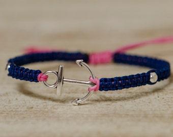Silver Anchor Bracelet Adjustable (Delta Gamma)