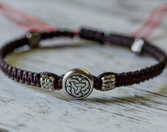 Sterling Silver Endless Knot Adjustable Bracelet