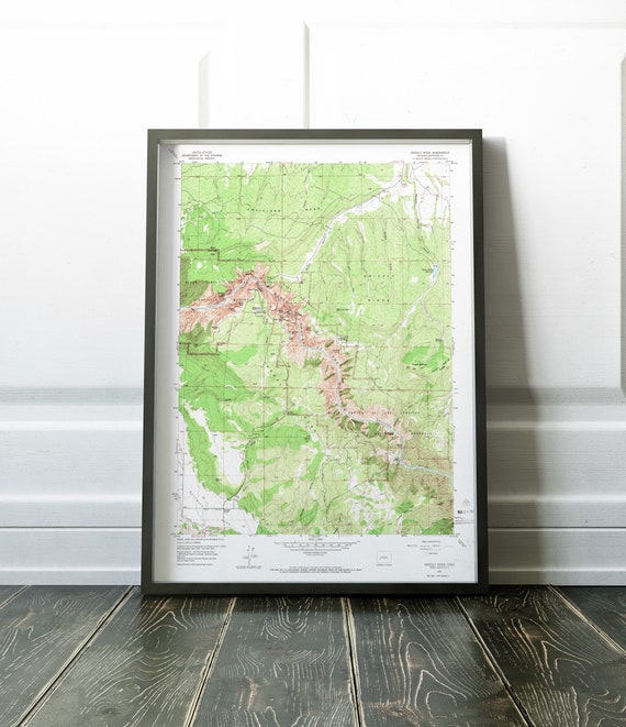 Black Canyon National Park Map Poster / Black Canyon of the Gunnison poster  / Colorado National Parks poster / Custom Size