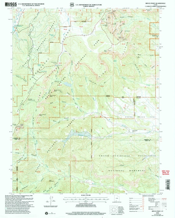 Bryce Canyon National Park / Topographic map Bryce Canyon