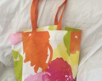 double flower tote bag
