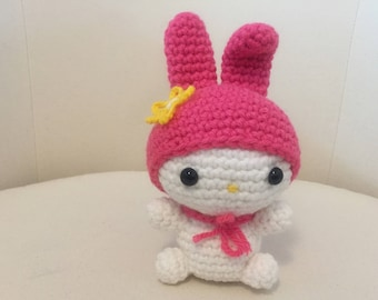 Crochet My Melody Handmade Amigurumi Stuffed Toy (Free Shipping for Vancouver and Lower Mainland Buyer Use Coupon Code FISHFREESHIP)