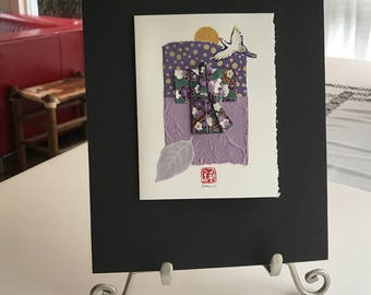 Matted Kimono Collage Purple