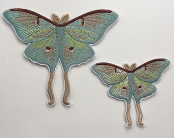 ded35fd7d0c3 Mystical Luna Moth Insect Iron on Embroidered patch
