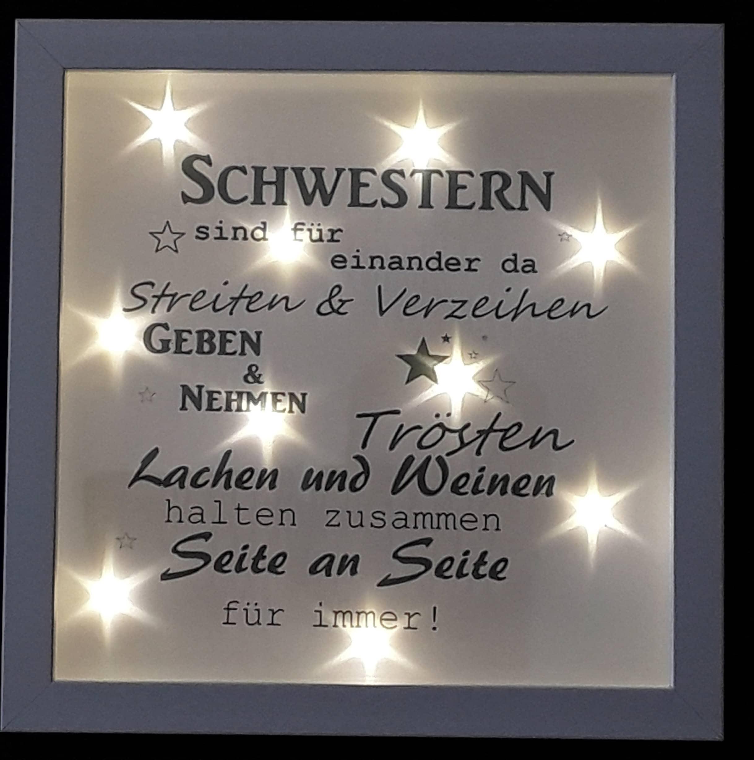 Bilderrahmen beleuchtet Schwestern Geschenk 518/27 | Etsy