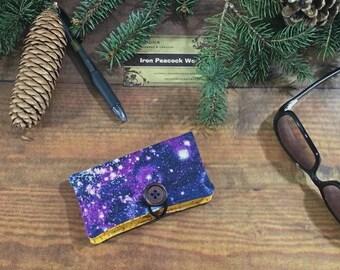 Dark Starfield Business Card Holder - Fabric Card Holder, business card case, credit card holder, graduation present, graduation gift