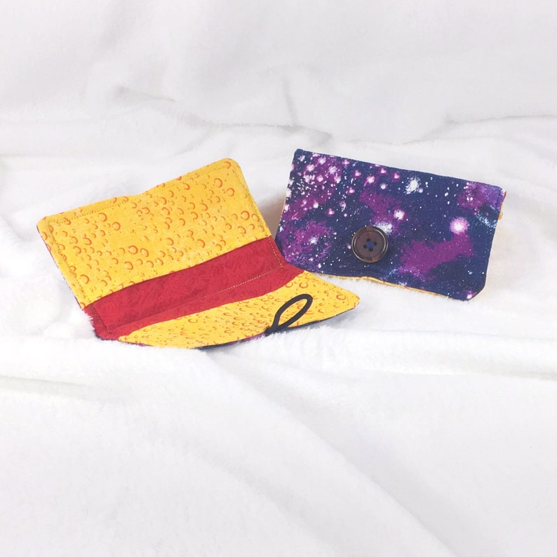 business card holder  Dark starfield  Business card wallet image 0