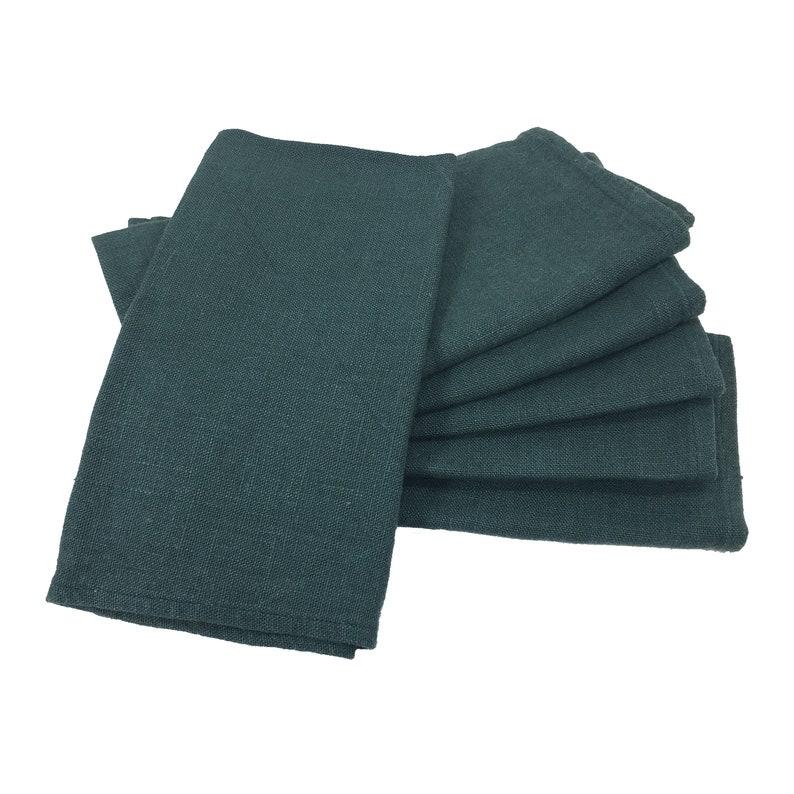 6 cloth napkins  Evergreen  eco friendly cloth napkins image 0