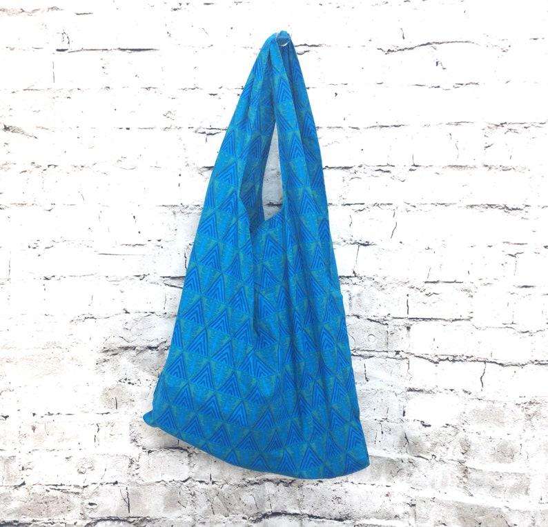 Zero Waste Bag  Southwestern Tourquoise  handmade compact image 0