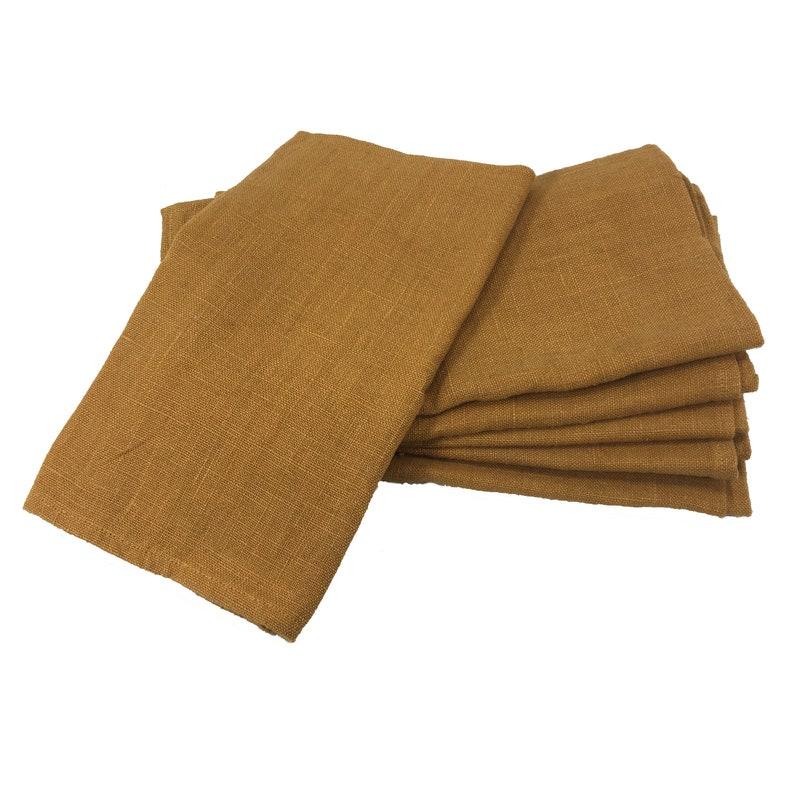 6 Cloth Napkins  Harvest Gold  eco friendly cloth napkins image 0
