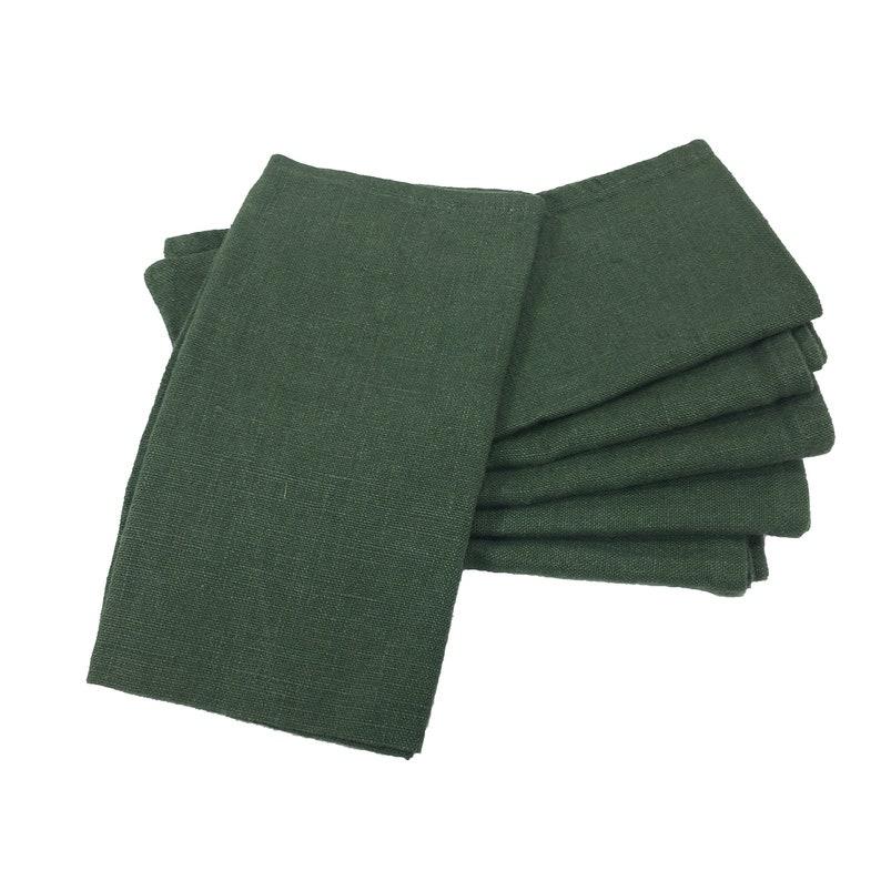 6 Linen napkins  Rustic Olive  Eco Friendly rustic linen image 0