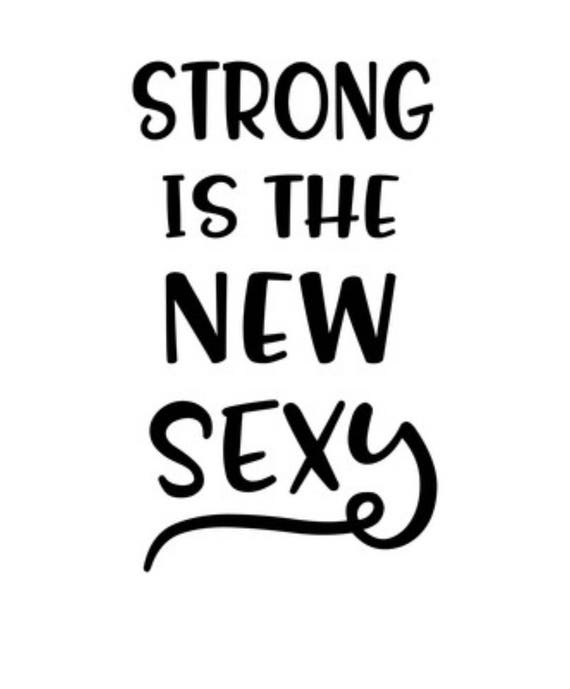 Strong Is The New Sexy Fitness Sticker Fitness Motivation Etsy