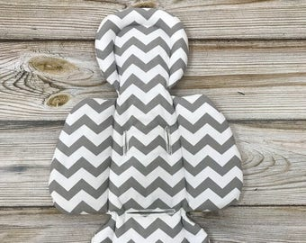 Gray Zig-zag Handmade Newborn Insert for 4moms mamaRoo rockaRoo bounceRoo Infant Seat Grey Chevron