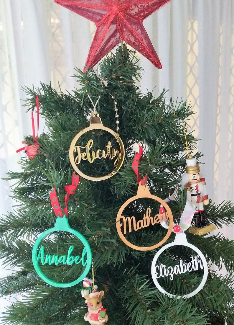 Personalised Acrylic Wood Christmas Decoration Xmas Etsy