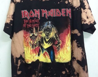 bb4f926b Iron Maiden Vintage Bleached T-shirt