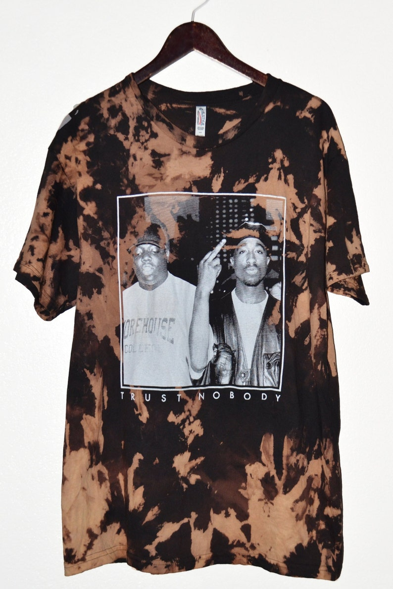 f01811c43216 2Pac x Biggie Trust Nobody Vintage Bleached T-shirt | Etsy