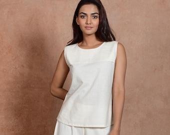 Ladies Summer Tops   Cotton Top For Women   Cotton Blouse   Alba Top