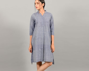 Cotton Dress With Pockets   Summer Dresses With Sleeves   Indian Kurta For Women   Everyday Dress   Cotton Dress
