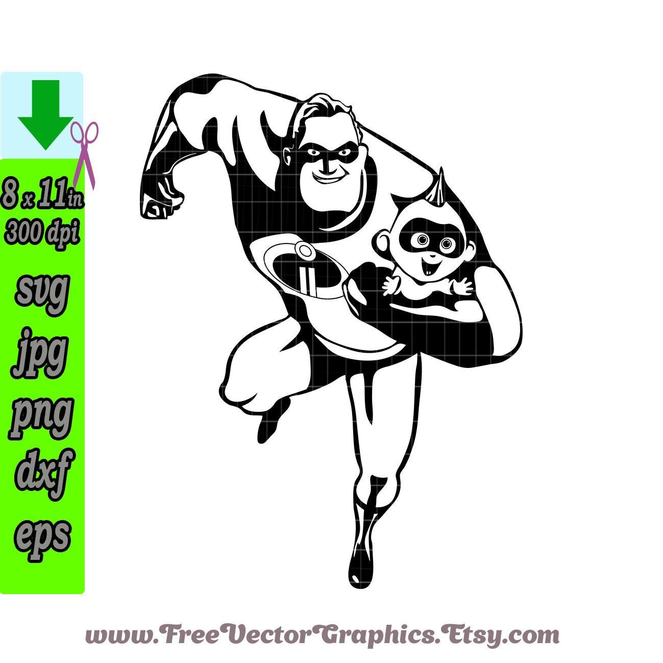 Baby & Mr  Incredible svg, Superhero Clipart, Superhero svg, Disney svg  cricut, father incredible, digital clipart, The Incredibles 2 vector