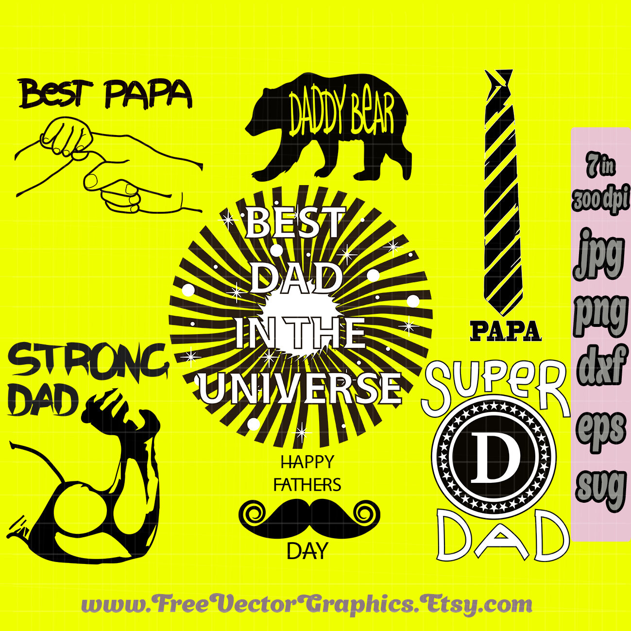 Cut Out Fathers Day Svg Bundle Daddy Svg Files Cut Machine Etsy