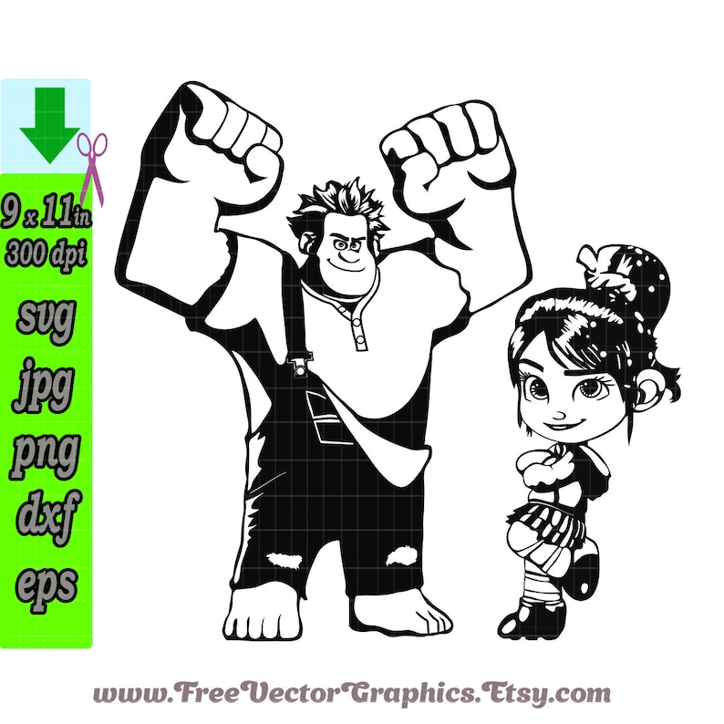 Disney Svg Wreck It Ralph 2 Cartoon Svg Files For Cricut Etsy