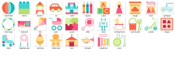 Personalised Sew In Full Colour Motif Name Labels Children/'s Kids Toys