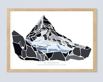 Magnificent Mount Assiniboine on the Great Continental Divide - Alberta - British Columbia - Canada - Mt. Assiniboine Provincial Park